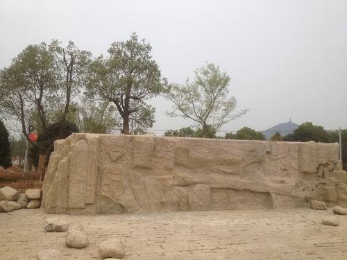 浙江长兴仙山湖国家湿地公园塑石假山
